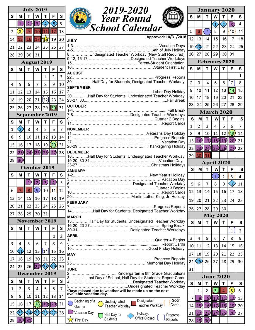 calendar « south brunswick charter school